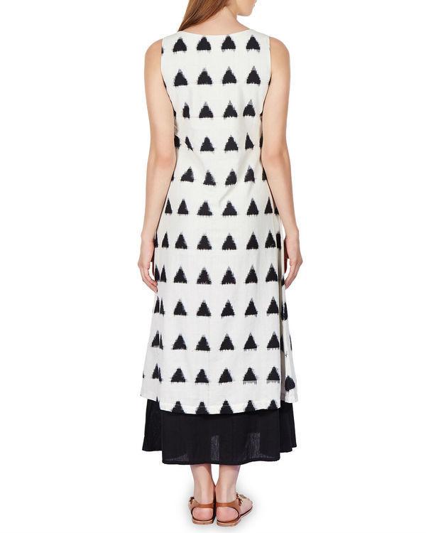 Layered ikat maxi dress 2