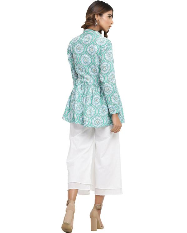 White crop top jacket set 1