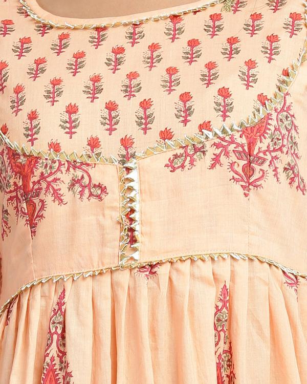 Orange and peach gota dress 2