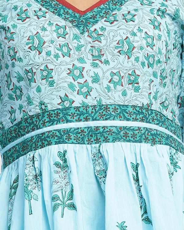 Turquoise dhoti set 2