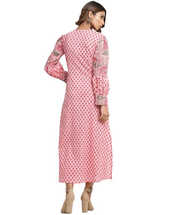 Flamingo pink kurta with pants 1