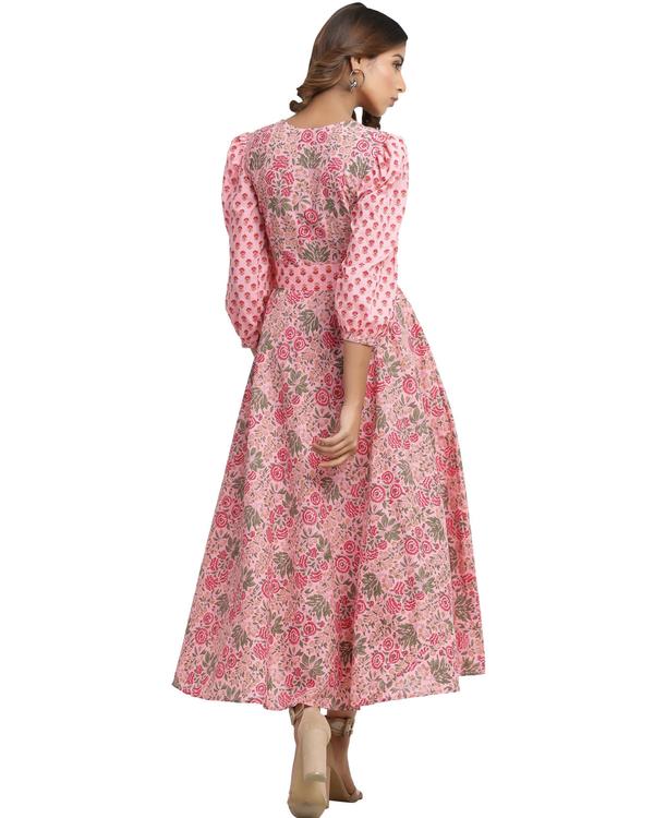 Pure cotton flamingo pink dress 1
