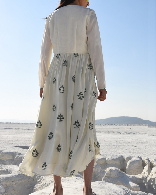 White embroidered maxi dress 1