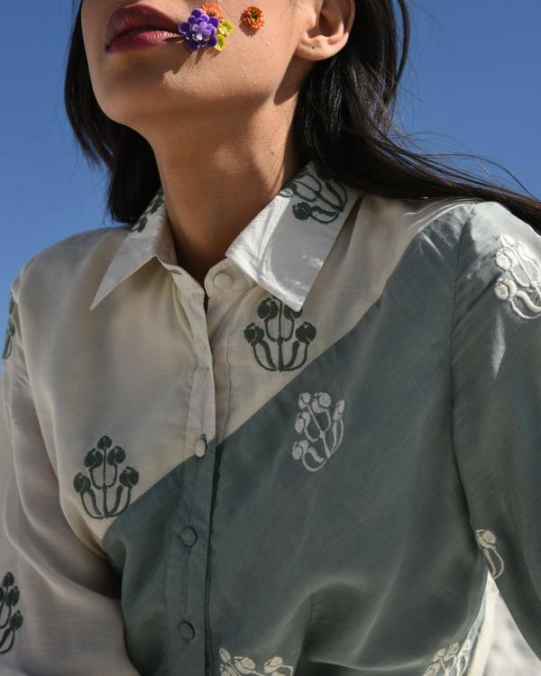 Muslin flared shirt dress 1