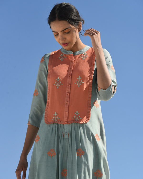 Contrasted pastel muslin tunic 1
