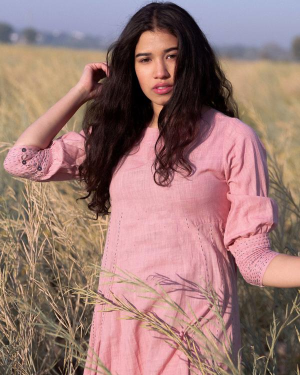 Dusty pink victorian dress 1