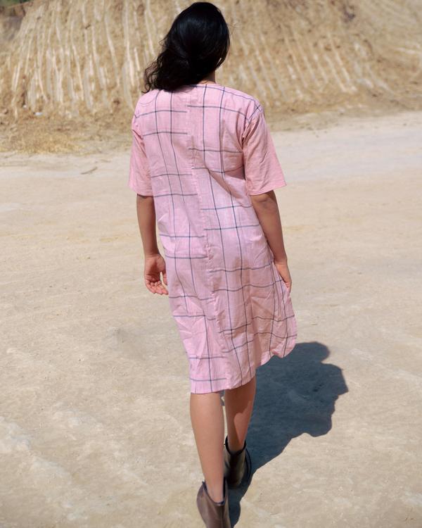 Dusty pink pleated dress 1