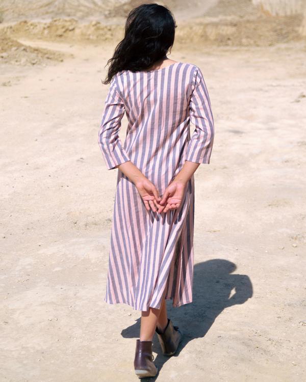 Pink and grey stripe kurta 2