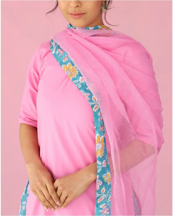 Pink and blue kalidar palazzo set 2