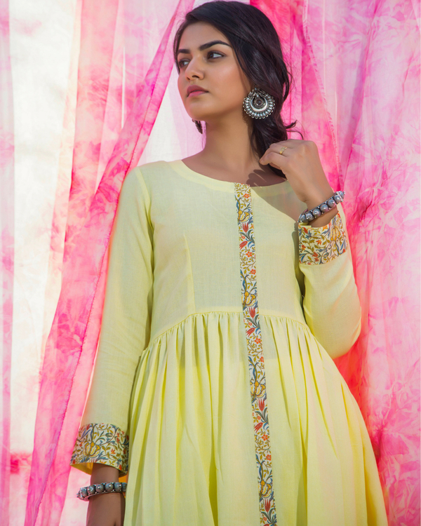 Lime cotton tunic 1