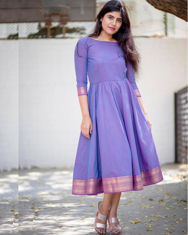 Lavender midi dress 1