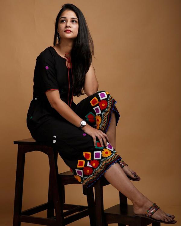 Black and multicolour jumpsuit 1