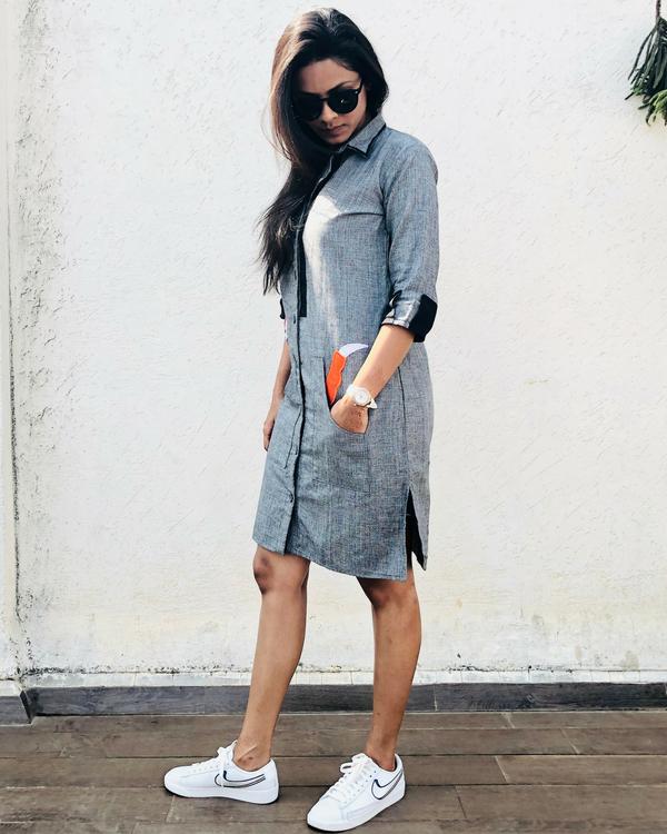 Fox grey shirt dress 1