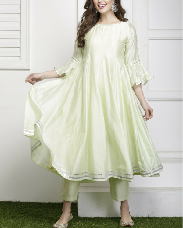 Mint green gota detailed salwar set 1