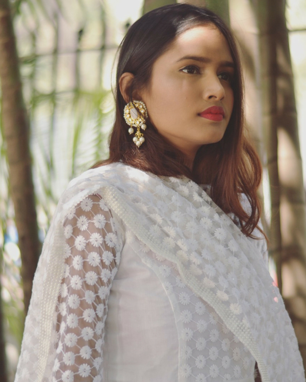 White star dress with dupatta 1