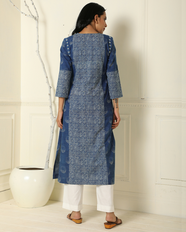 Indigo patchwork kurta 1