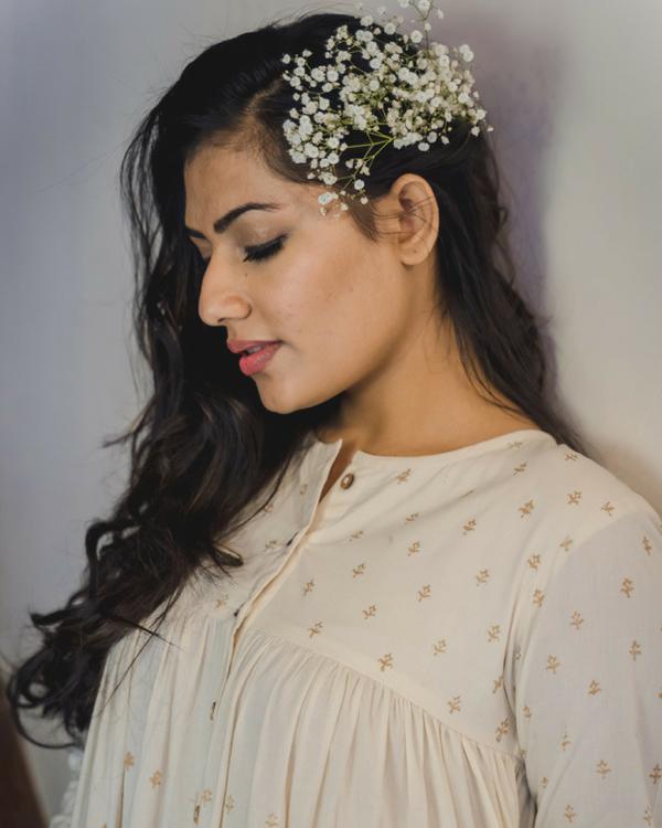 Ivory cotton sharara dress 1