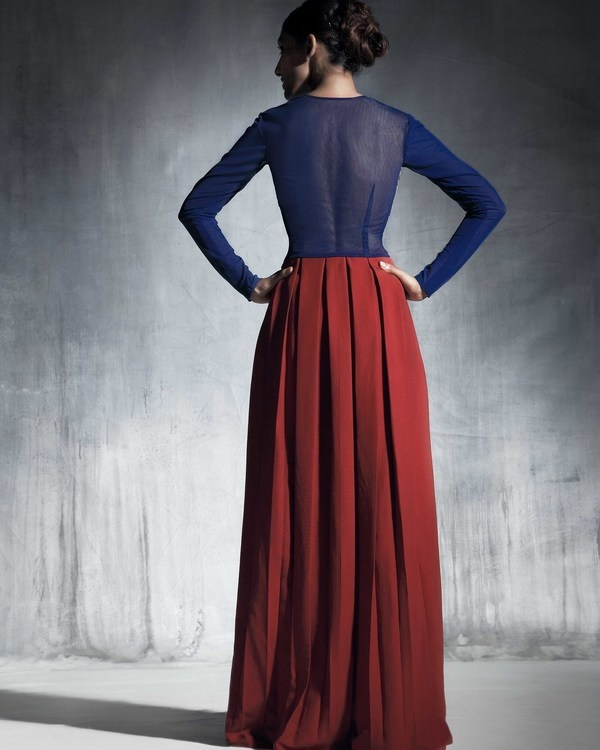 Silk pleated skirt 1
