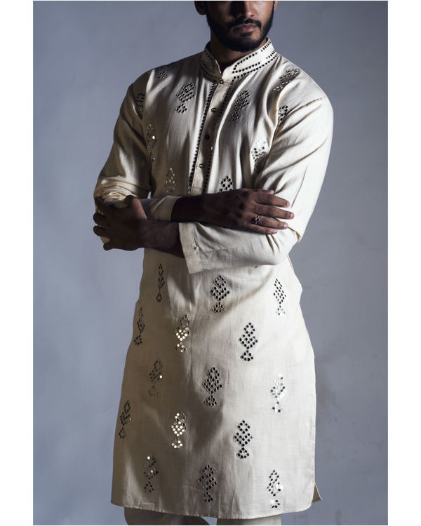 Mirror work kurta with pants 1