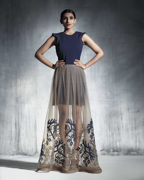 Organza flared skirt 2