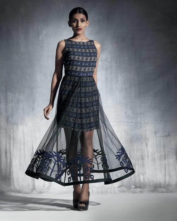Silk organza circular skirt 2