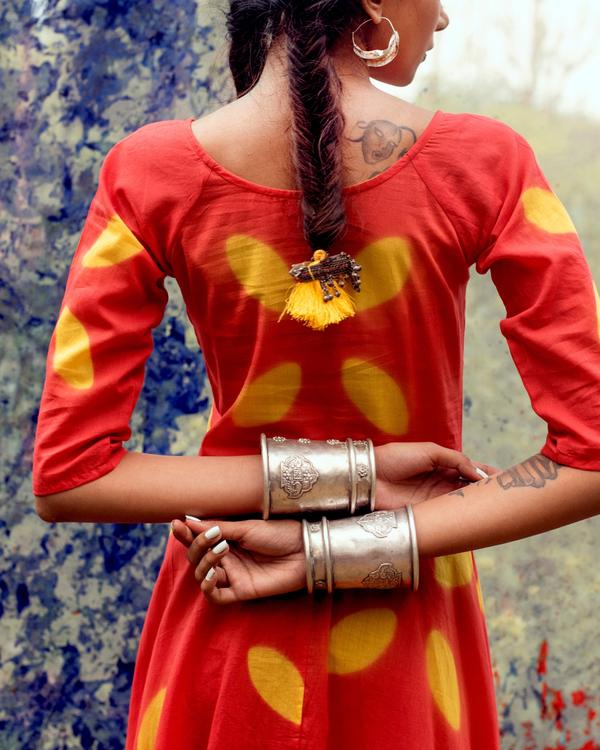 Floral flared dress 1
