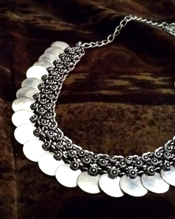Silver coin necklace 1