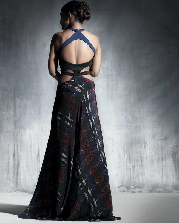 Silk crepe resort gown 1