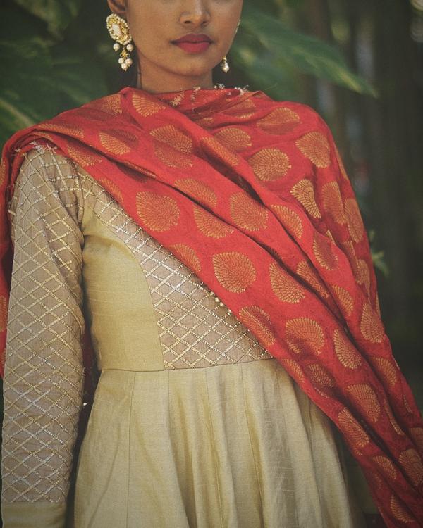 Yoke embellished dress with dupatta - Set of two 1