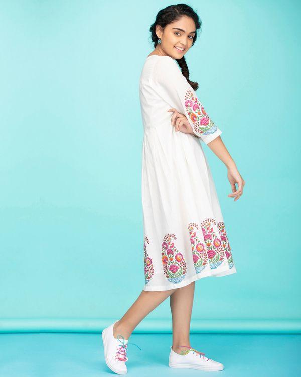Cotton paisley applique dress 1