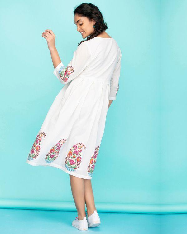 Cotton paisley applique dress 2