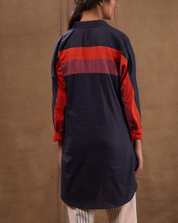 Cotton blue-pink shirt 2