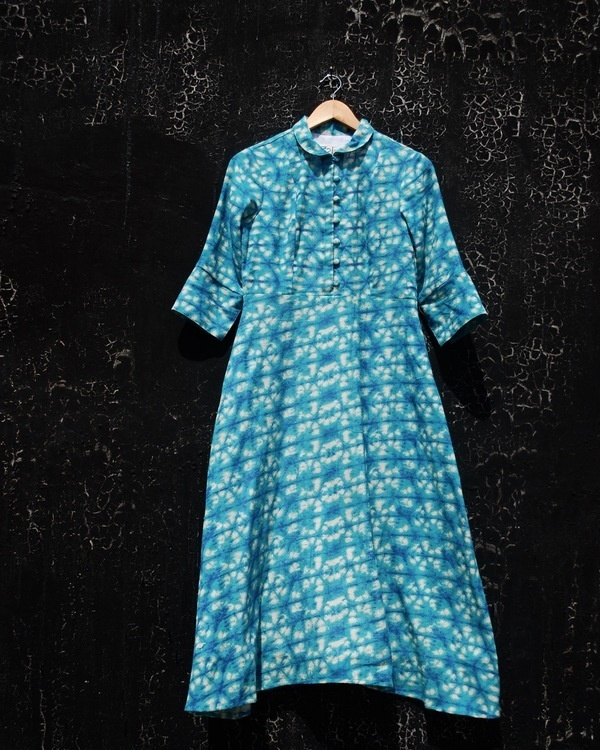 Shibori midi dress 2