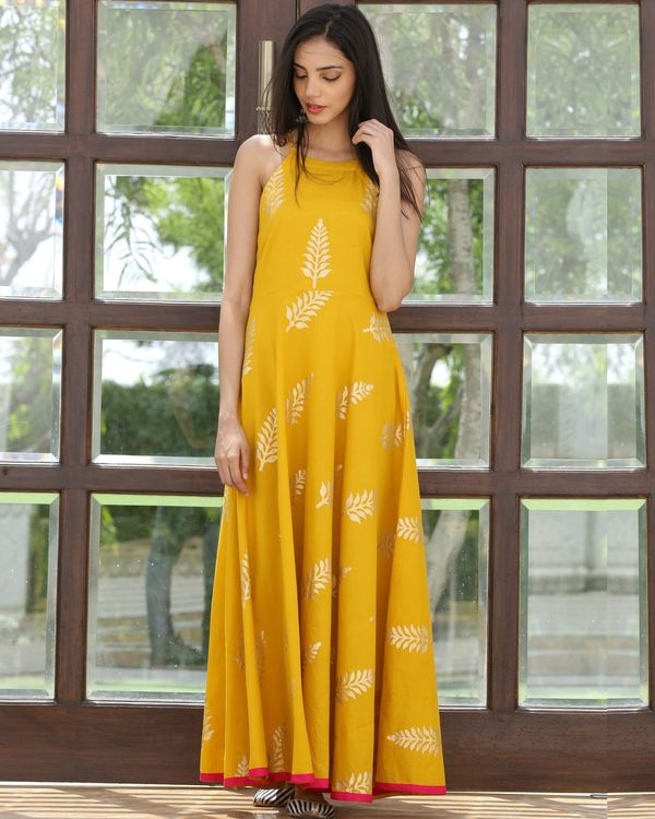 Mango printed maxi dress 2