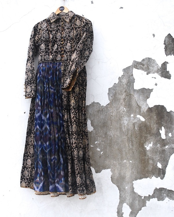 Kalamkari noir dress 2