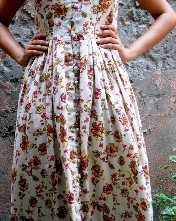 Floral tea dress 1