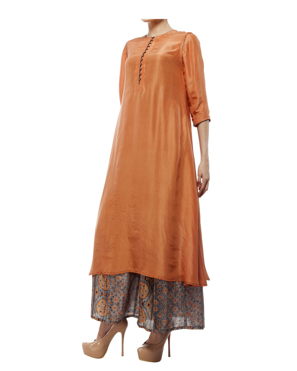 Dusty orange silk tunic 1