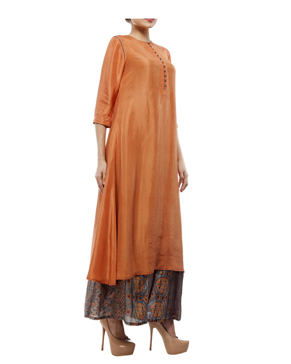 Dusty orange silk tunic 2