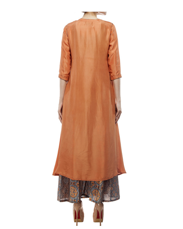 Dusty orange silk tunic 3
