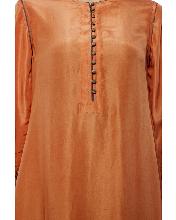 Dusty orange silk tunic 4