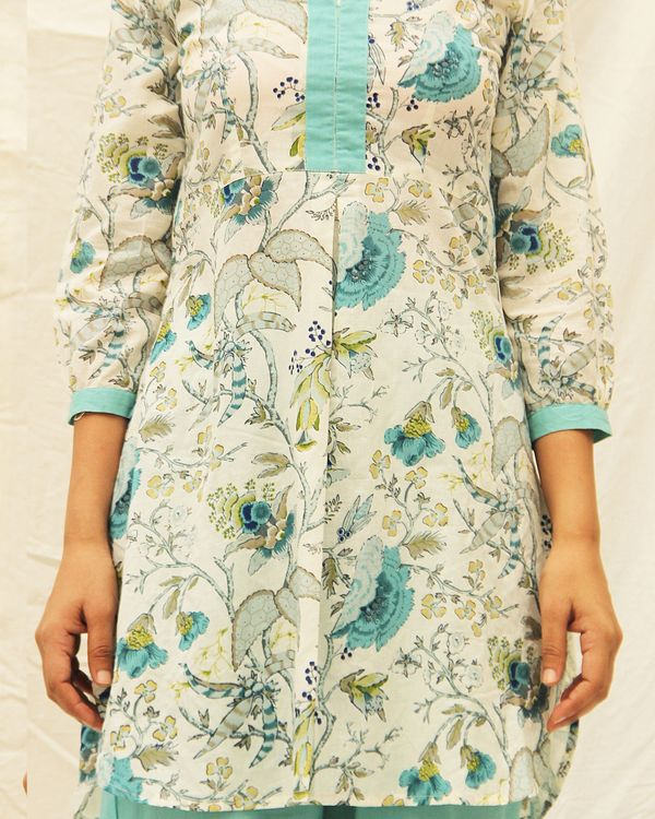 Beautiful blue kurta with high low hemline 1