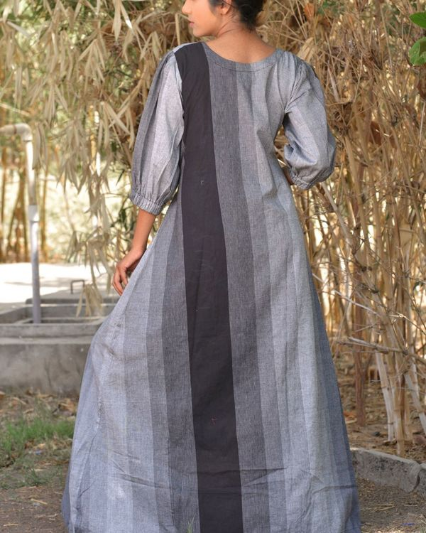 The black and grey asymmetrical knot dress 3