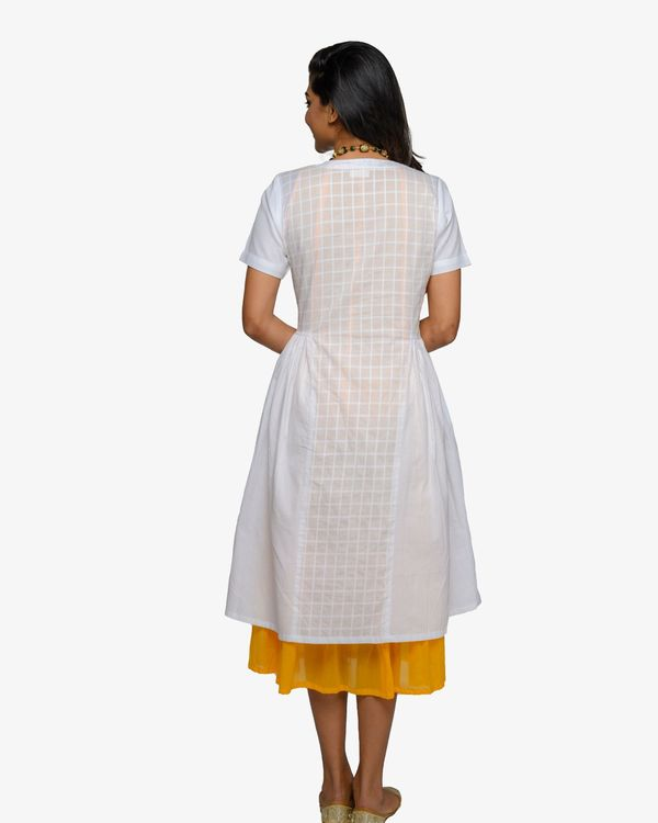 White and mustard inner dress- set of two 1