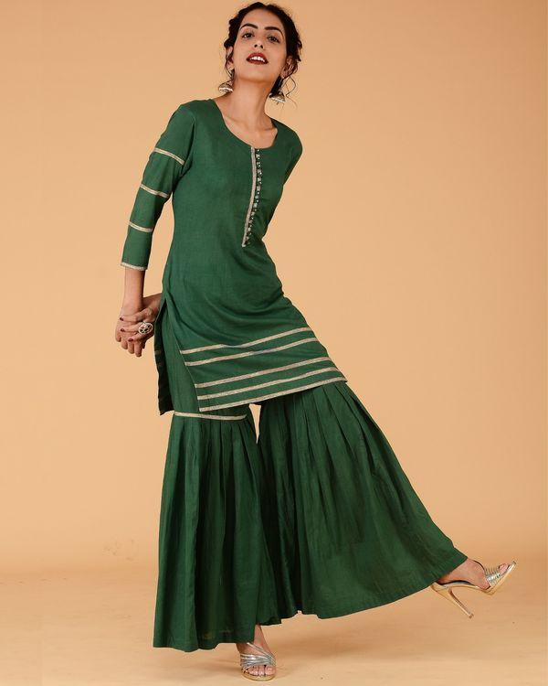 Green sharara set- set of two 1