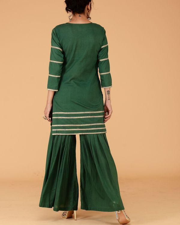 Green sharara set- set of two 2