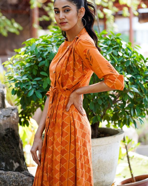 Rust  colored long dress 1