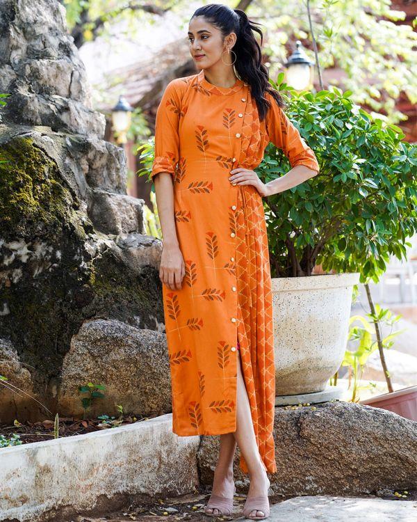 Rust  colored long dress 3