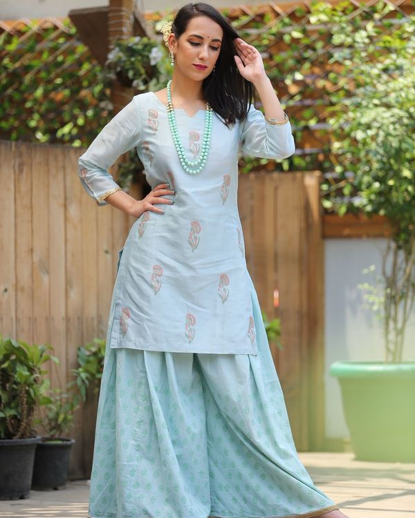 Mint shade gharara 1