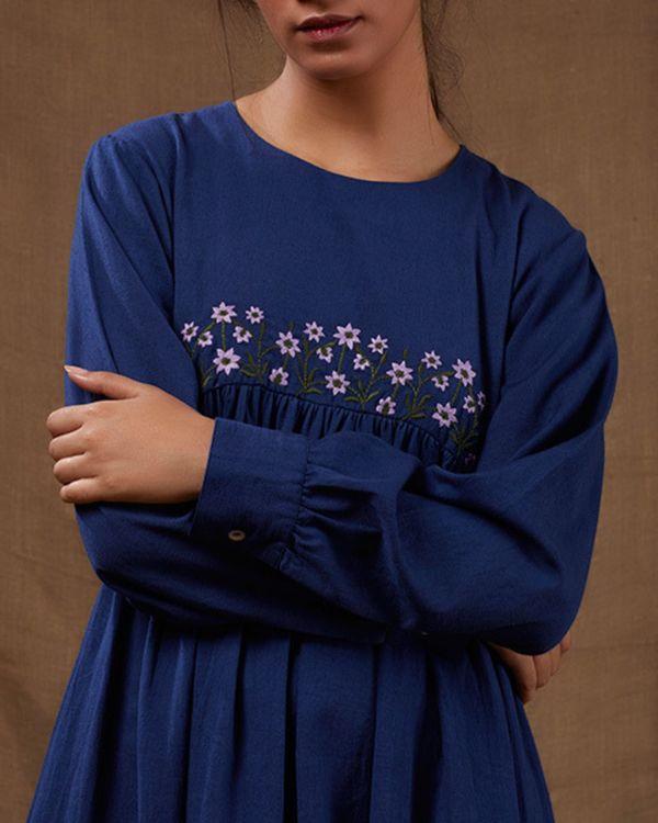 Midnight blue floral dress 1