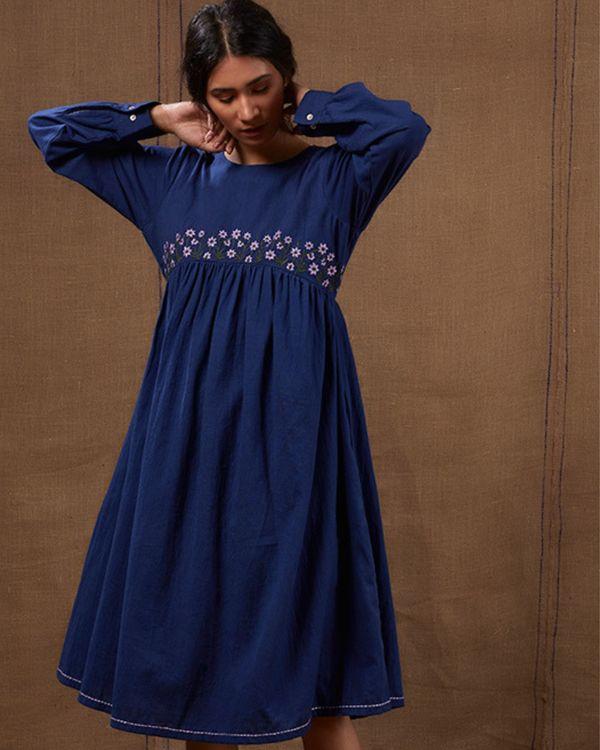 Midnight blue floral dress 2